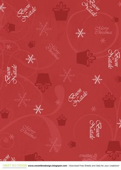 SBDSweet Christmas Paper Set!by SweetBioDesign