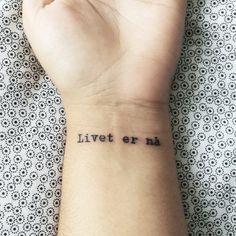 Livet er nå tattoo skam
