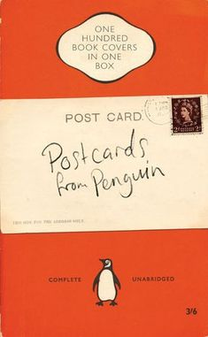 Postcards from Penguin: One Hundred Book Covers in One Box by none,http://www.amazon.com/dp/0141044667/ref=cm_sw_r_pi_dp_MnMcsb0Z6ASS64E1