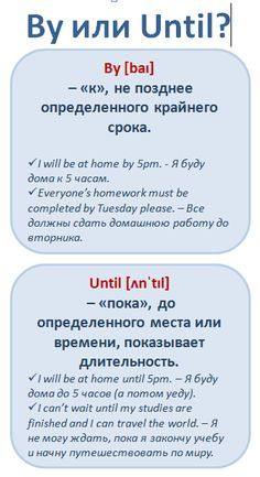 Путающиеся слова. By vs. Until #english #vocabulary #learnathome