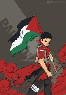 raise the flag of palestine by ghozai on DeviantArt Palestine Flag, Islamic Cartoon, Anime Muslim, Fashion Wall Art, Joko, Car Posters, Islamic Art, Disney Art, Nebraska