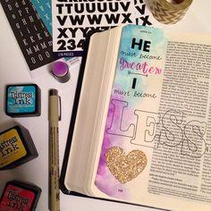 Image of Bible Journaling Supply Kit with Bible