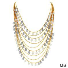 West Coast Jewelry Goldtone Layered Resin Bead Necklace