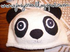 *.:。✿JosyCrea✿.。.:* Tejido a Crochet y Más!: Gorrito oso panda