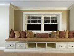 bench- looove window seats! with storage is even better!