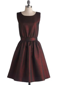 Sublime Shine Dress. When picking out the most fiery frock for a night of dancing, you immediately go to this shimmering, fully lined red dress! #red #modcloth