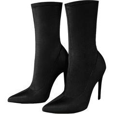 Black Stiletto Heel Boots (3.110 RUB) ❤ liked on Polyvore featuring shoes, boots, stiletto boots, stiletto heel boots, black stiletto shoes, stiletto high heel shoes and black stiletto boots