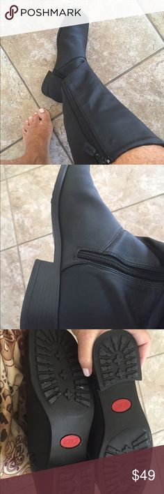 Ladies very nice Sporto Insulated black boots, 10M Ladies very nice black, high Sporto insulated all weather boot with zipper. NEVER WORN! sporto Shoes Winter & Rain Boots