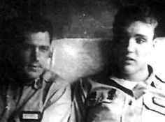 With Charlie Hodge in the Army
