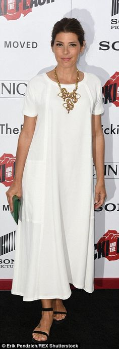 Contrasting looks: Marisa Tomei was angelic in white while Blue Bloods stars opted for a b...