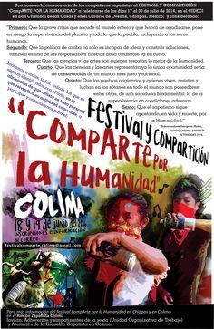 """Festival-Compartición """"CompARTE POR LA HUMANIDAD"""", Colima, 18 y 19 de junio de 2016"""