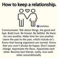 How to keep a relationship (via Facebook)