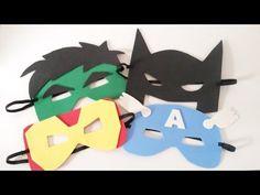 Como fazer Máscaras de Super Heróis - Máscaras de EVA - YouTube