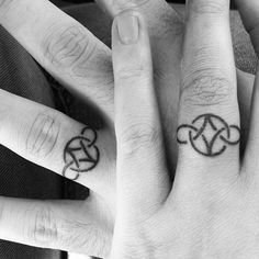 I was able to hold it together until we got into the car. I looked at my fiancé and I looked at his hand, and saw that his very first tattoo is a tattoo to represent that we vow to be with each other for eternity. I cried because I am so happy that I have this man in my life. He is the best thing that has ever happened to me. I love you so much. Thank you for showing me what it is like to be loved, and thank you for letting me love you in return♡♡♡ #blackandwhite #engagement #weddingring…