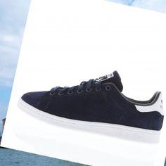 new style 2e88b 01ac7 Originale 2015 Adidas Stan Smith In Pelle Scamosciata Abbigliamento  Sportivo Per Uomo In Blu NavyBianco