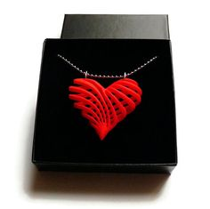 3d printed jewelry Pendant / necklace 'My by CreativeUseofTech  love in 3D