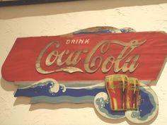 Coca Cola Kay Display Wood Sign Rare Festoon Piece 1930s -1940s #CocaColaKay