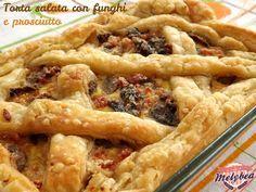 #Torta salata con #funghi e #prosciutto