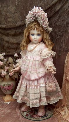 """French Doll by A. Thuillier marked A9T, 22"""" Tall. This is my favorite doll. I would like to have one, but she is far too expensive"""