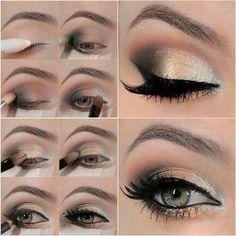 How to Do Golden Eye Makeup Tutorial
