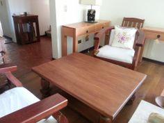 Mesa de centro 120 cms x 95 cms madera :Raulí envejecido