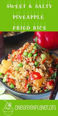 Vegan Sweet and Salty Pineapple Fried Rice