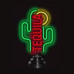 Neonetics Wall Lighting Tequila Cactus Neon Sign - Tequila Cactus Neon Sculpture