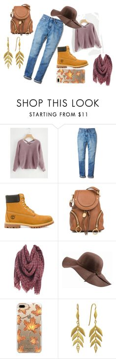 """Fall"" by loverofclothes-444 on Polyvore featuring Calvin Klein, Timberland, See by Chloé, N'Damus, Casetify and Cathy Waterman"