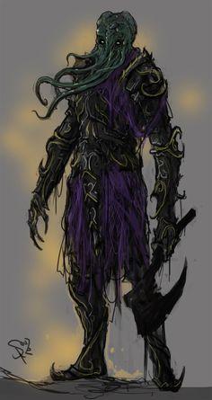 Mindflayer Knight by Halycon450.deviantart.com on @DeviantArt