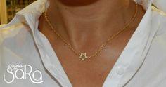 Gargantillas finas  estrellas oro mate y oro rosa (5)