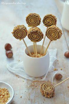 Crêpes sucettes bicolore au chocolat, vanille