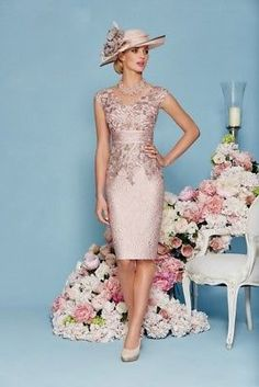 2017 Knee Length Women Gown Mother Wedding Party Cloths vestido de noche paseo Lace Mother of the bride with boleroRonald Joyce 2016 Mother Of The Bride Dresses For Weddings Knee Length Lace Applique Sheath Mother's Dress V Neck Mother Evening GownsFenghu Mother Of Bride Outfits, Mother Of Groom Dresses, Mothers Dresses, Mother Of The Bride Dresses Knee Length, Mother Bride, Mother Of The Bride Gowns, Brides Mom Dress, Mob Dresses, Short Dresses
