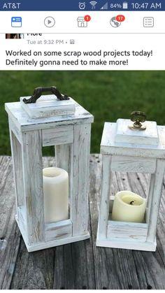 Scrap Wood Projects, Diy Pallet Projects, Furniture Projects, Diy Furniture, Woodworking Projects, Wooden Lanterns, Lanterns Decor, Home Crafts, Diy Home Decor