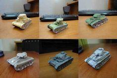 6 WWII Mini Tank Paper Models Free Templates Download