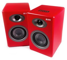 These red monitors would look great with the rest of the red recording equipment I've been looking at. Reasonably priced, and bluetooth as well so easy to use with an iPad or phone as well as with the lovely RED Focusrite interfaces. Good alternative to the Ferrari Red Rokits which are fabulous, but were limited edition so now only available secondhand. The EMD30's are still available. Nice. Recording Studio Design, Recording Equipment, Studio Gear, Easy To Use, Ferrari, Monitor, Bluetooth, Alternative, Rest