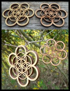 The double layer flower of life suits perfect to work as a center for the 'flower of life patern'