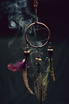 dream catcher and incense.i love dream catchers! Dreamcatchers, Smudging Prayer, Sage Smudging, Gypsy Soul, Book Of Shadows, American Indians, Witchcraft, Wind Chimes, Witches