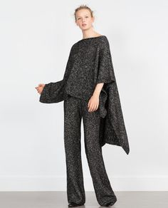 Image 1 of TWIST KNIT CAPE from Zara