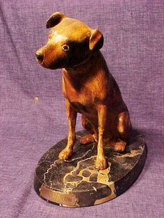 RARE Early RCA Nipper Dog Figure | eBay