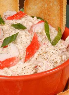 I like this recipe: Cold Crab Dip