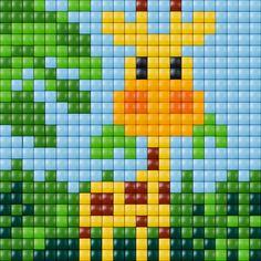 Giraffe cross stitch. Animal cross stitch.
