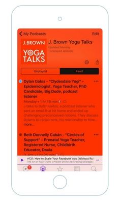 It's time to turn off the music and tune in to a yoga podcast. There are so many new amazing yoga podcasts worth listening to. Yoga Podcast, Chair Yoga, Galo, Pranayama, Yoga Teacher, Teacher Resources, Namaste, Training, Marketing