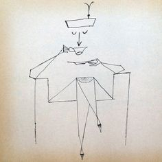 Saul Steinberg è considerato tra i più importanti disegnatori del XX ... Saul Steinberg, Line Drawing, Drawing Sketches, Art Drawings, Illustrations, Illustration Art, Ligne Claire, Weird Art, Strange Art