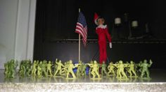 Elf on the Shelf-Day 3-We Salute