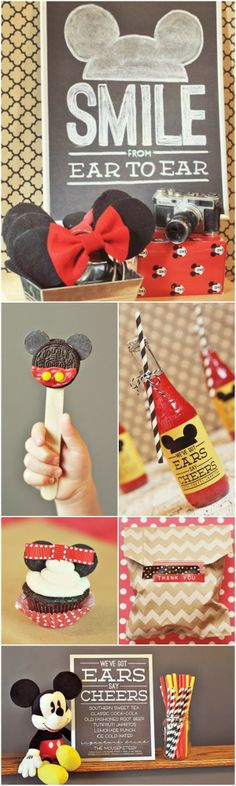 "Doesn't get better than this. Fantastic ""Classic Mickey"" party ideas"