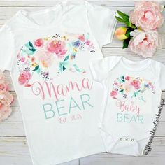 We are loving these new mama & baby bear shirts New in for mothers day you can twin your baby bear all year long Tap photo to shop for you and your little Reposted Via @rufflesandbowtiebowtique