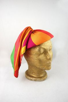 1960s Colorful Beret Hat I Magnin and Co by FrocksnFrillsVintage, $42.00