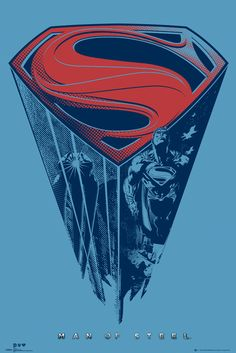 Superman Man of Steel Logo Classic Movie Large Poster Art Print Maxi A1 A2 A3