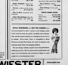 Wenatchee World. Corset Advertisement 11 Feb 1910. Chronicling America
