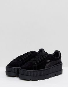 Puma X Fenty Suede Creepers In Black 1dc817afd23